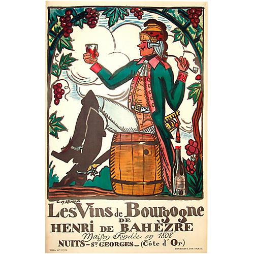Les Vins de Bourgogne Poster