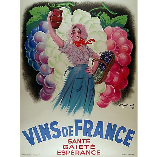 Vins de France Wine Poster