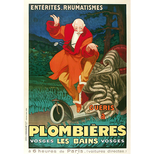 Plombières Mineral Spa Travel Poster