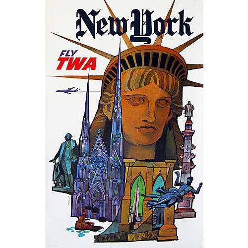 Original TWA New York Travel Poster
