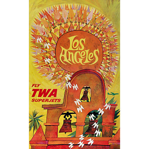 Original TWA Los Angeles Travel Poster