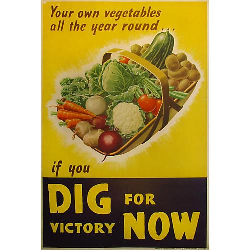 Original WWII Victory Garden Poster