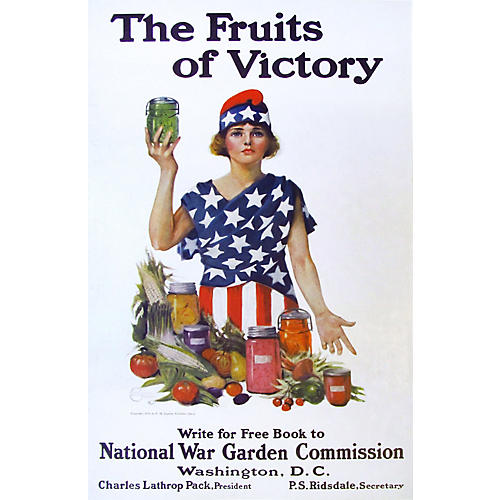 WWI Fruits of Victory by L. Jacobs, 1918