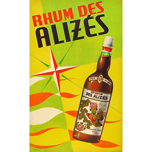 1950s Original Rum Poster