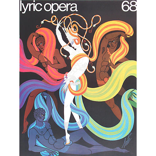 1960s poster by Erte