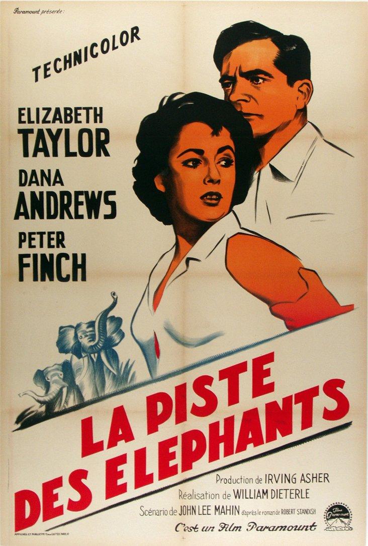 Elephant Walk Poster, C. 1955
