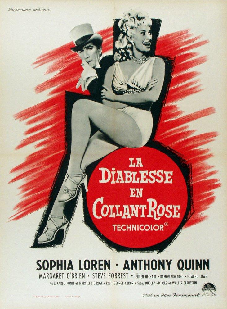Sophia Loren French Movie Poster