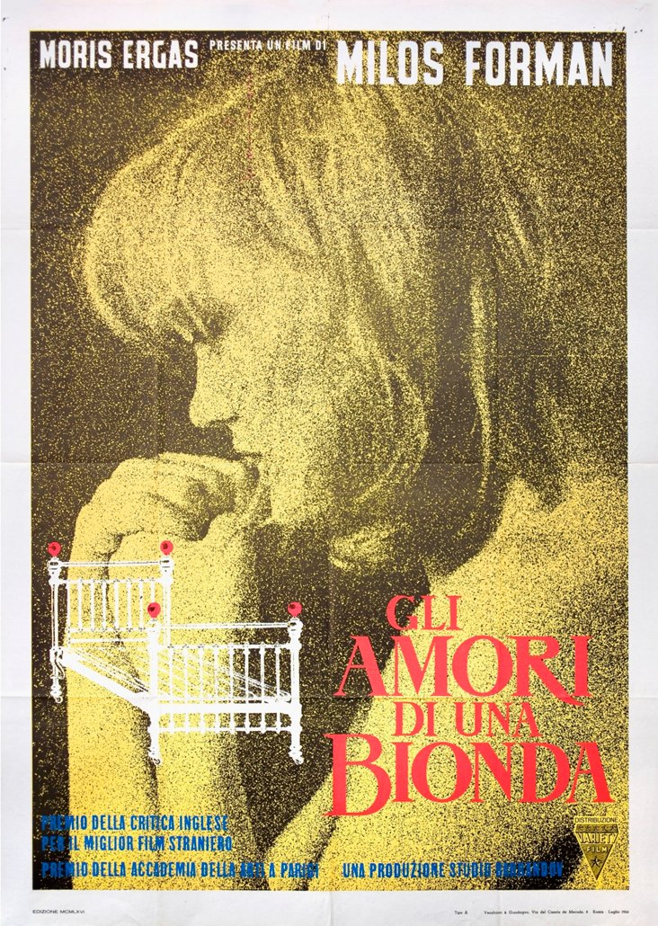 Italian Loves of a Blonde Poster, 1966