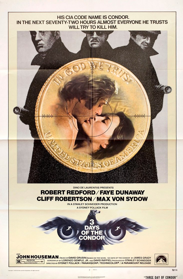 Three Days of the Condor Poster, 1975