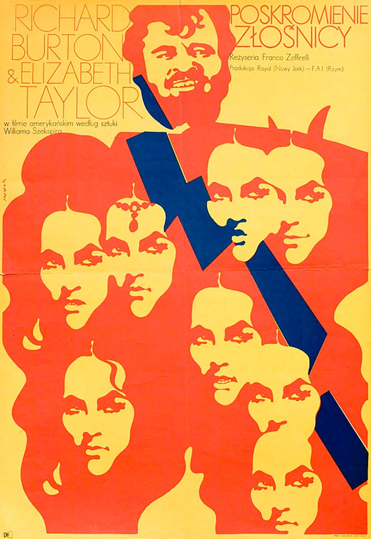 Taming of the Shrew Polish Poster, 1967