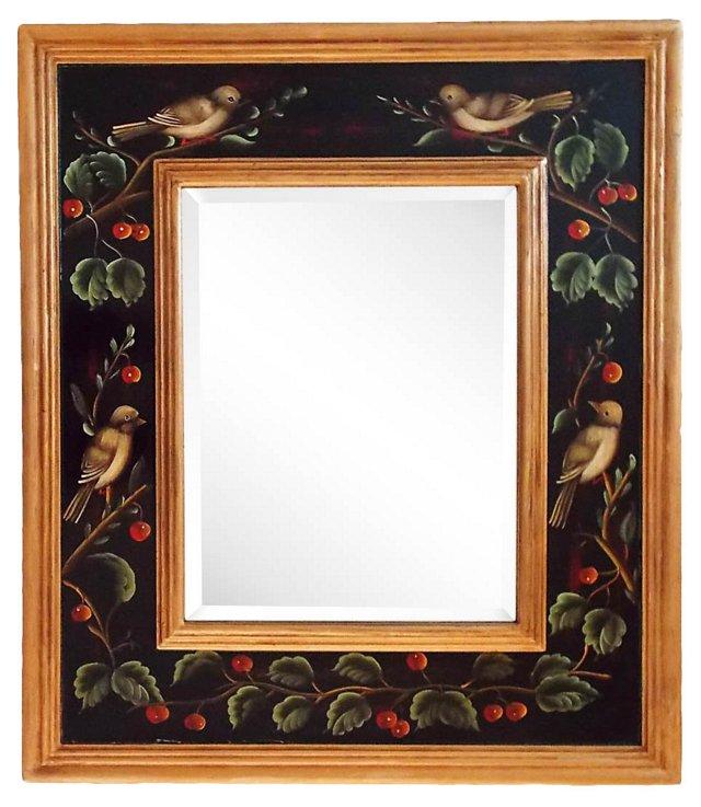 Chinoiserie Giltwood Mirror w/ Birds