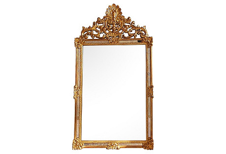 French Louis XV-Style Gilded Mirror