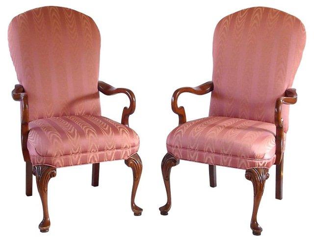 George II-Style Armchairs, Pair