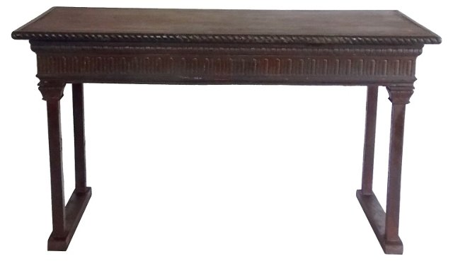 19th-C. Neoclassical-Style Bench