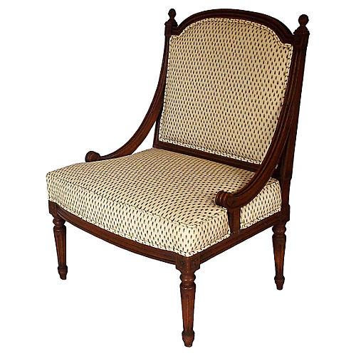 Italian Mahogany Slipper Chair