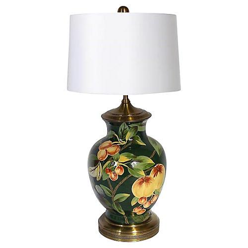 Ceramic & Brass Urn Lamp