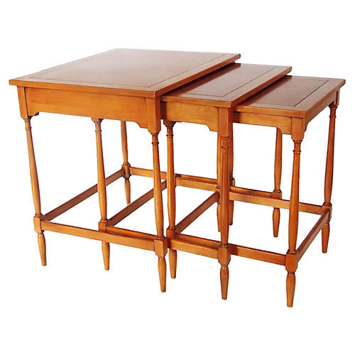 Walnut Nesting Tables, S/3