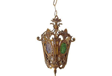 Brass Regency-Style Pendant