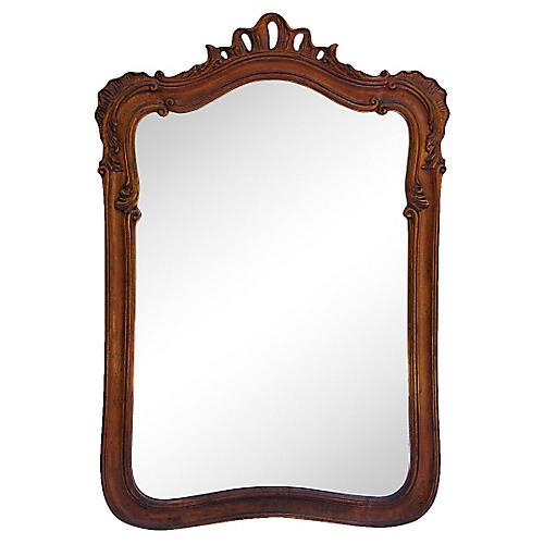 Italian-Style Carved Walnut Mirror