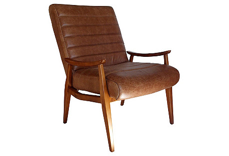 Modernist Leather Chair