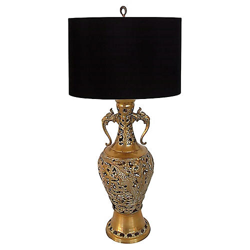 Brass Lamp w/ Griffin Handles