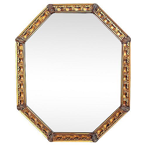 English-Style Giltwood Mirror
