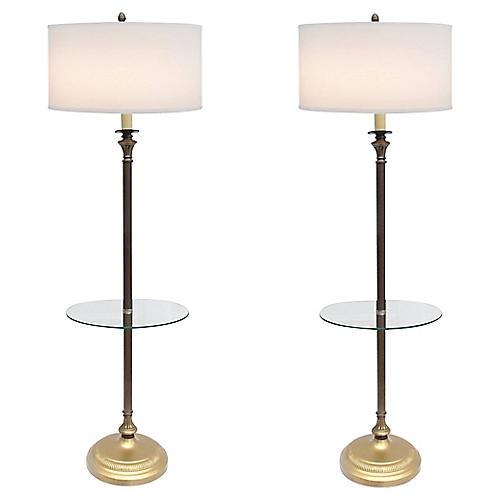 Empire Floor Lamps, S/2