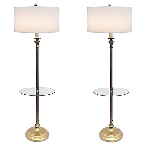 Empire Floor Lamps, S/2