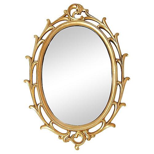 Giltwood Oval Mirror