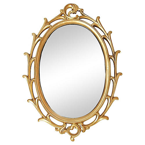 Giltwood Oval Mirror