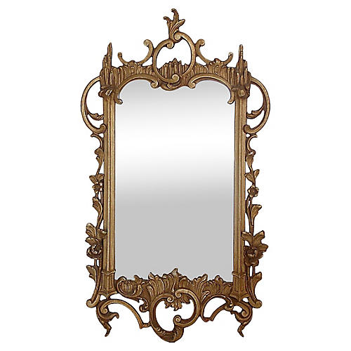 English Scroll Gilt Mirror