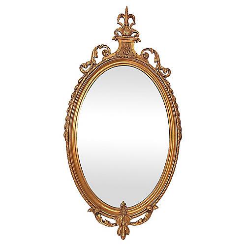 Fleur-de-Lis Giltwood Mirror