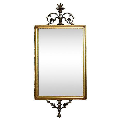 Provençal-Style Brass Mirror