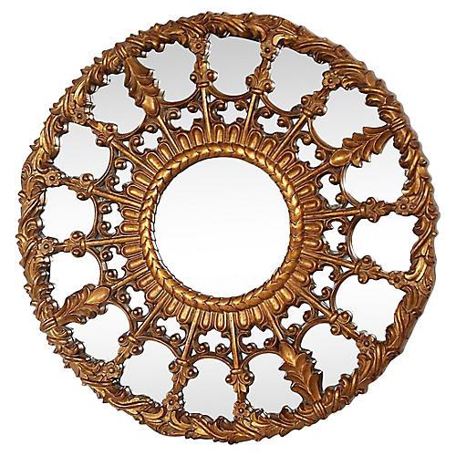 Regency-Style Medallion Mirror