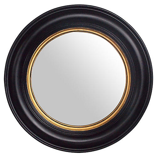 Black & Gold Convex Mirror