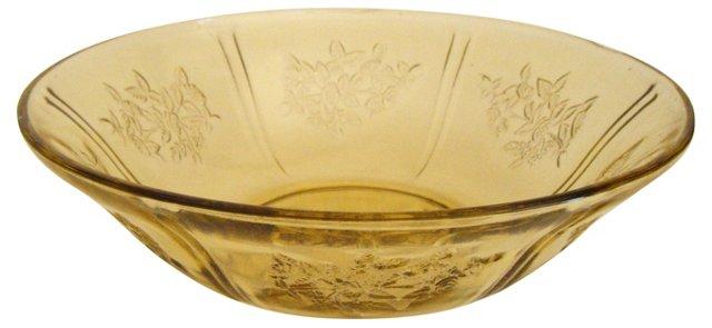Depression Glass Serving Bowl