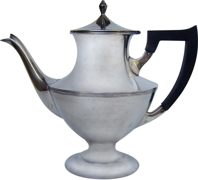 19th-C. Sterling Teapot