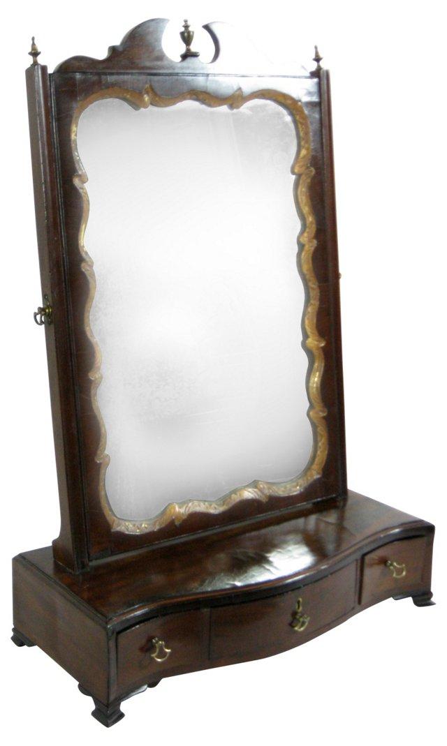19th-C. French Dressing Mirror