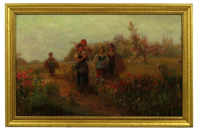 19th-C.  Flower Pickers