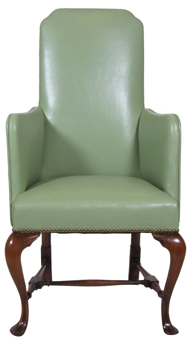 Sage Leather Armchair