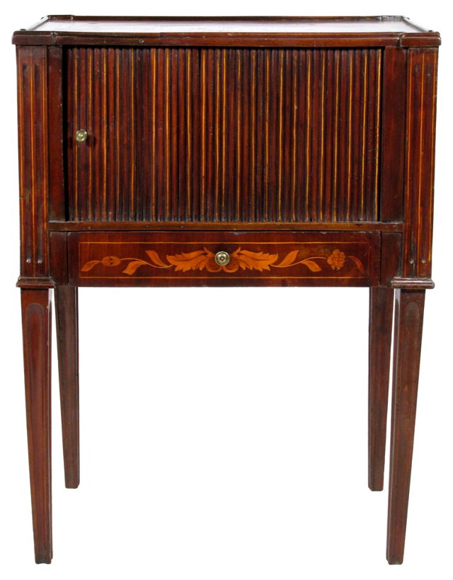 19th-C.  Marquetry Side Cabinet