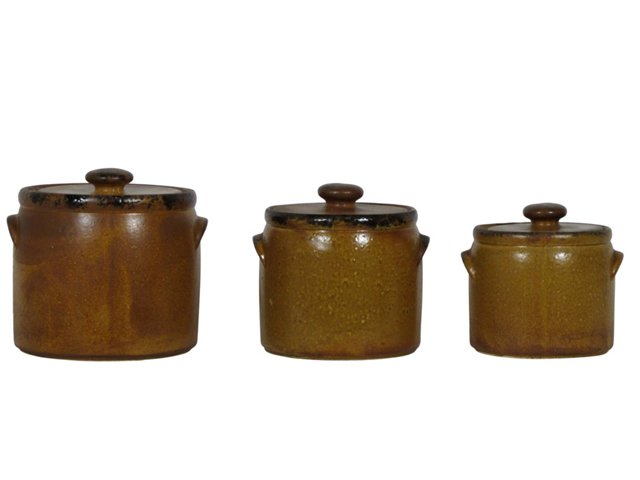 McCoy Stoneware Crocks, Set of 3