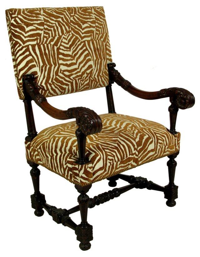 Late-19th-C. English Walnut Chair
