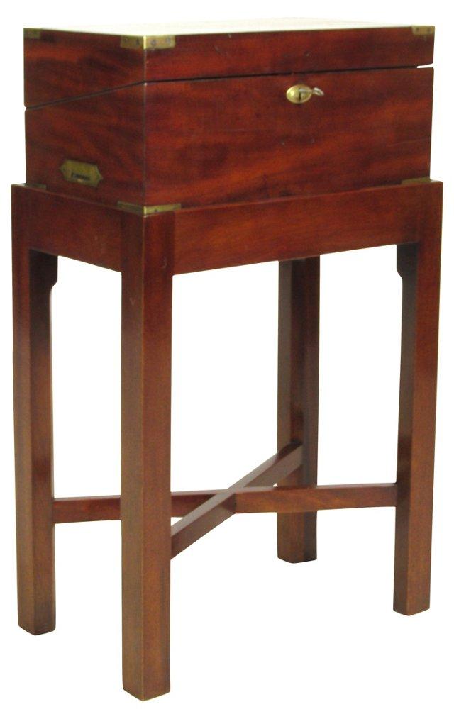 19th-C. American Lap Desk & Stand