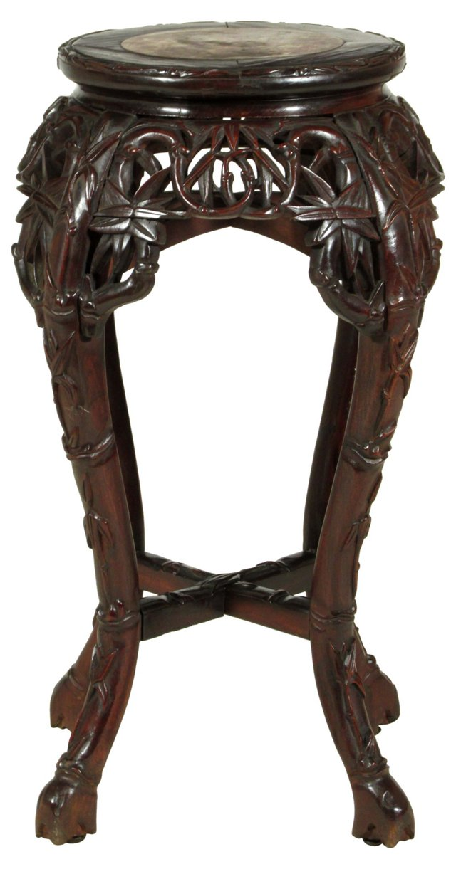 19th-C. Chinese Marble-Topped Table