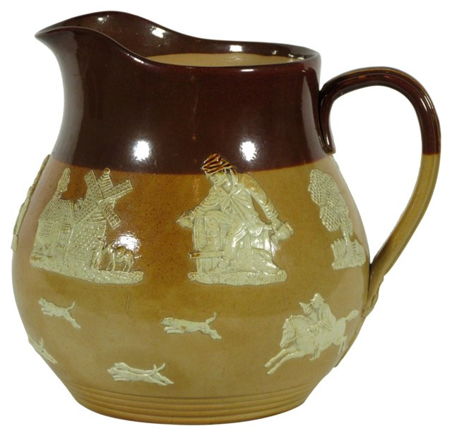 19th-C. Doulton Pitcher