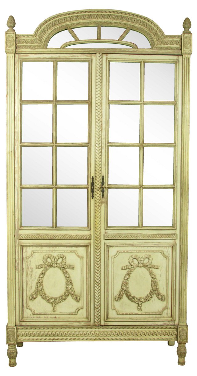 French Louis XVI-Style Painted Armoire