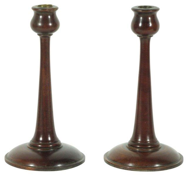 Art Nouveau Candlesticks, Pair