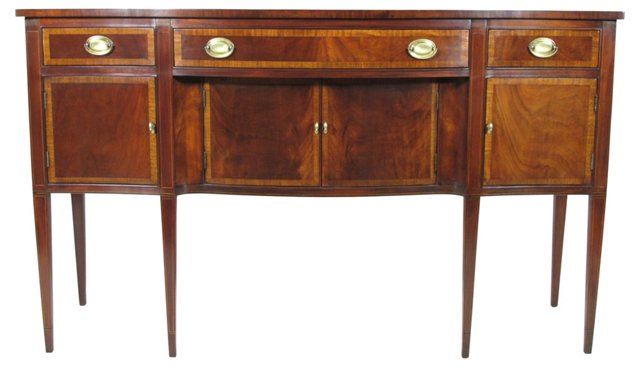Federal-Style   Inlaid Sideboard