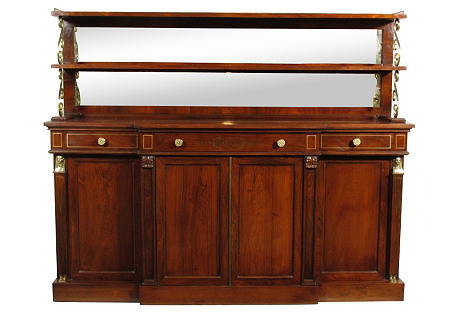 French Empire-Style Rosewood Sideboard